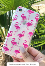 FOONCASE Samsung Galaxy A6 2018 hoesje TPU Soft Case - Back Cover - Flamingo