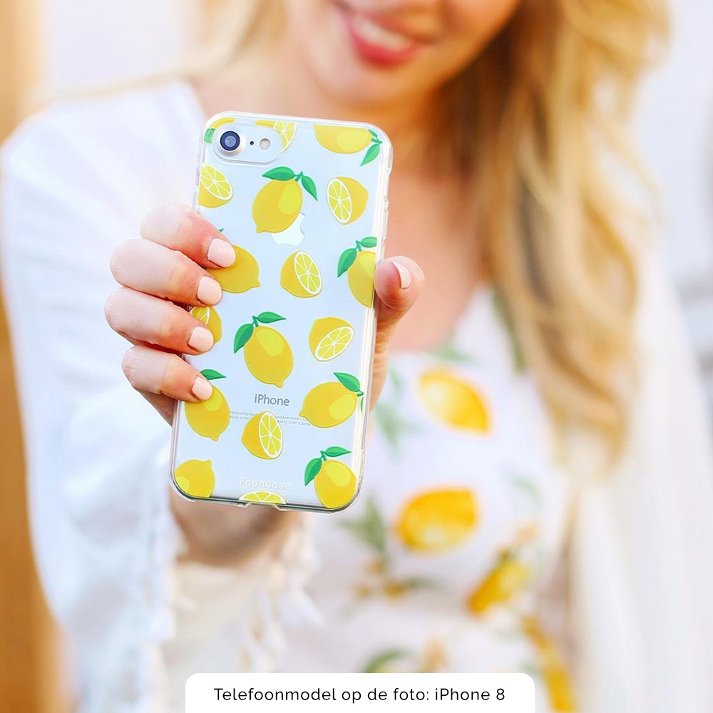FOONCASE Samsung Galaxy A7 2018 hoesje TPU Soft Case - Back Cover - Lemons / Citroen / Citroentjes