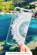 FOONCASE Samsung Galaxy A7 2018 hoesje TPU Soft Case - Back Cover - Mandala / Ibiza