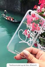 FOONCASE Samsung Galaxy A7 2018 hoesje TPU Soft Case - Back Cover - Ciao Bella!
