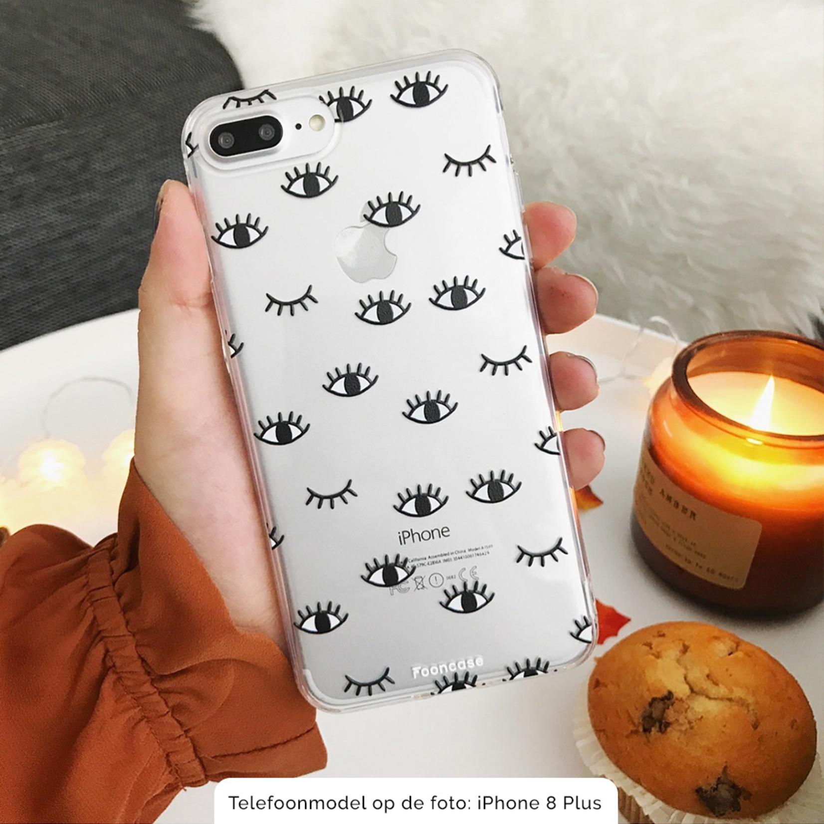 FOONCASE Samsung Galaxy A50 hoesje TPU Soft Case - Back Cover - Eyes / Ogen