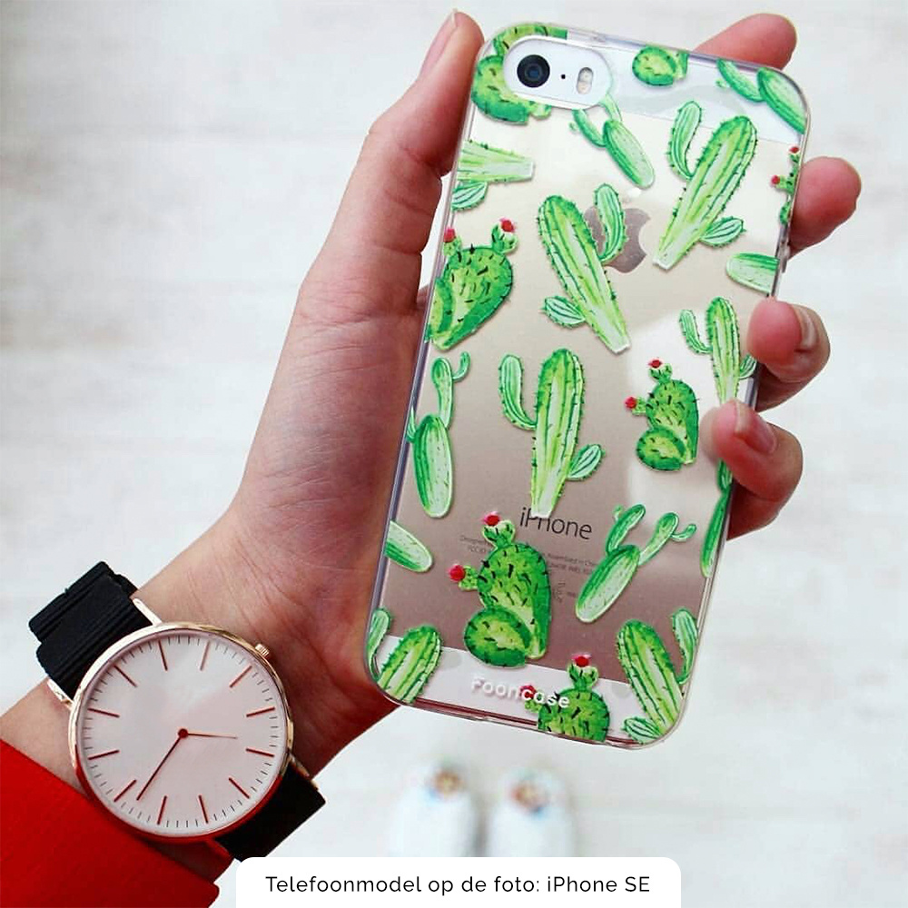 Samsung Galaxy A40 hoesje TPU Soft Case - Back Cover - Cactus