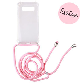 FOONCASE Samsung Galaxy S10 - Festicase Pink (Phone case with cord)