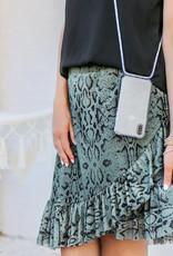 FOONCASE FESTICASE Samsung Galaxy A50 Telefoonhoesje met koord (Roze) TPU Soft Case - Transparant