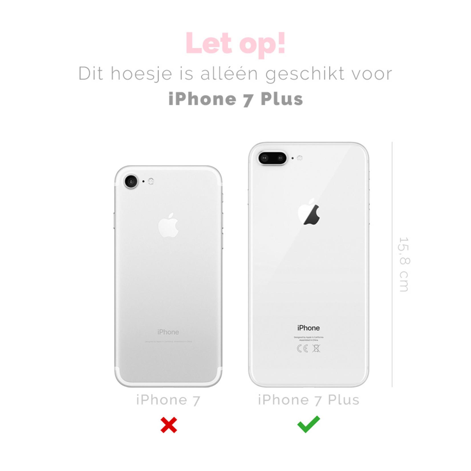 FOONCASE iPhone 7 Plus hoesje TPU Soft Case - Back Cover - Watermeloen