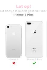FOONCASE iPhone 8 Plus hoesje TPU Soft Case - Back Cover - Purple Flower / Paarse bloemen