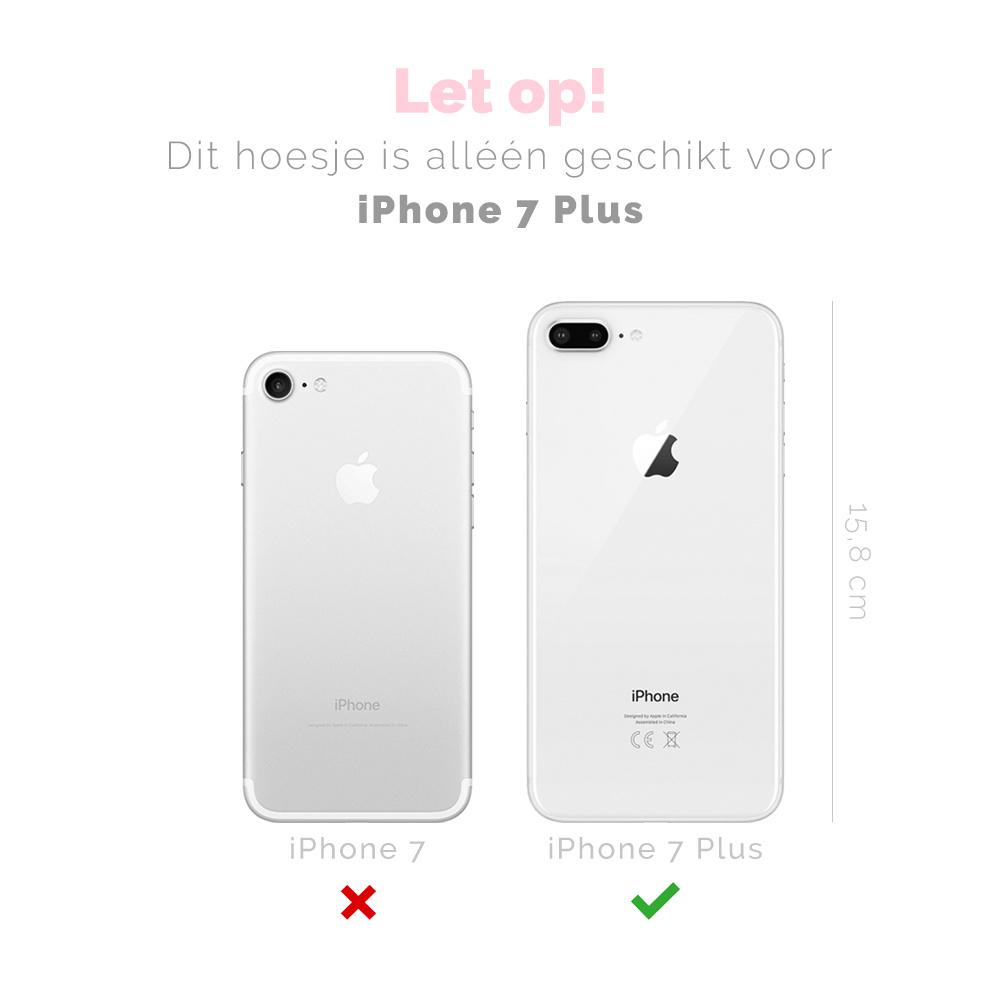 FOONCASE iPhone 7 Plus hoesje TPU Soft Case - Back Cover - POLKA COLLECTION / Stipjes / Stippen / Bordeaux Rood