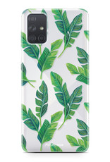 Samsung Galaxy A51 hoesje TPU Soft Case - Back Cover - Banana leaves / Bananen bladeren
