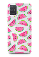 Samsung Galaxy A51 hoesje TPU Soft Case - Back Cover - Watermeloen