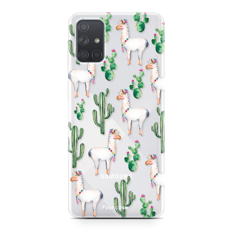 Samsung Galaxy A51 hoesje TPU Soft Case - Back Cover - Alpaca / Lama