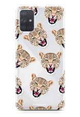 Samsung Galaxy A51 hoesje TPU Soft Case - Back Cover - Cheeky Leopard / Luipaard hoofden
