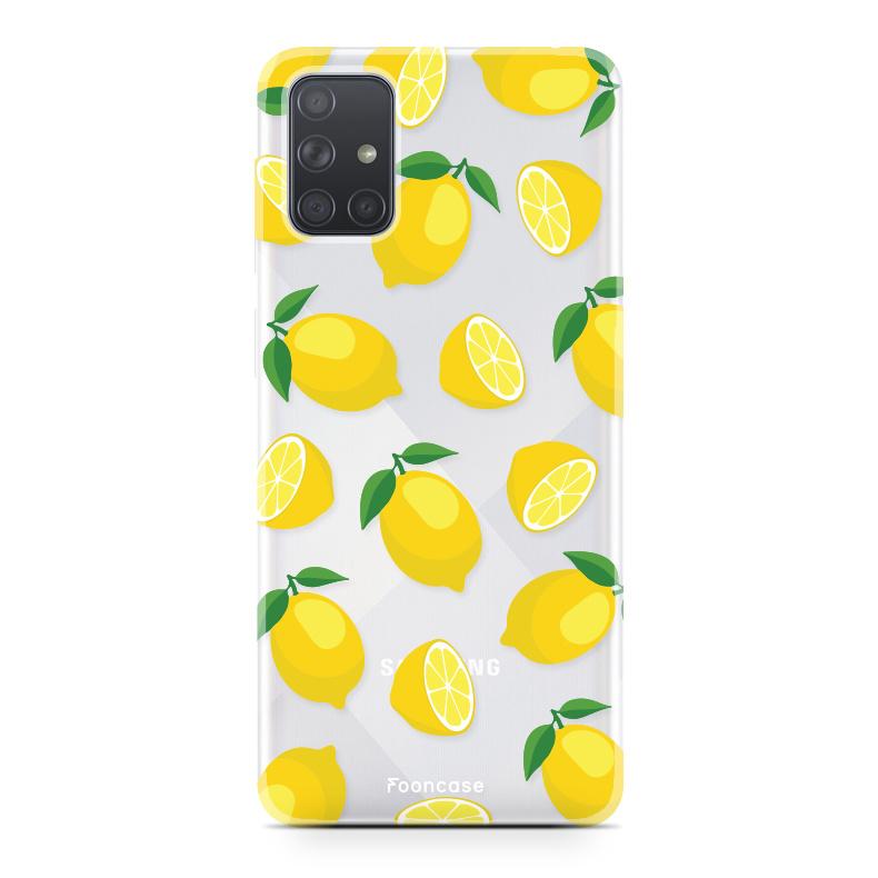 Samsung Galaxy A51 hoesje TPU Soft Case - Back Cover - Lemons / Citroen / Citroentjes
