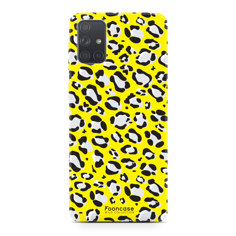 Samsung Galaxy A51 hoesje TPU Soft Case - Back Cover - WILD COLLECTION / Luipaard / Leopard print / Geel