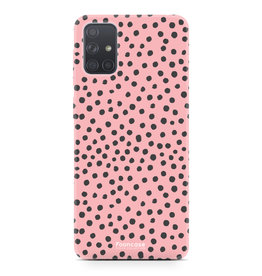 Samsung Galaxy A51 - POLKA COLLECTION / Roze