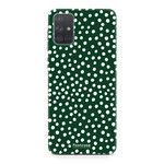 Samsung Galaxy A51 - POLKA COLLECTION / Donker Groen