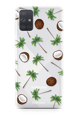 Samsung Galaxy A51 hoesje TPU Soft Case - Back Cover - Coco Paradise / Kokosnoot / Palmboom