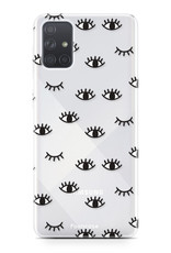 Samsung Galaxy A71 hoesje TPU Soft Case - Back Cover - Eyes / Ogen
