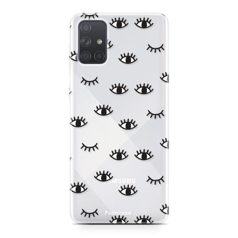 Samsung Galaxy A71 hoesje TPU Soft Case - Back Cover - Eyes / Ogen