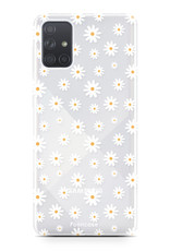 Samsung Galaxy A71 hoesje TPU Soft Case - Back Cover - Madeliefjes