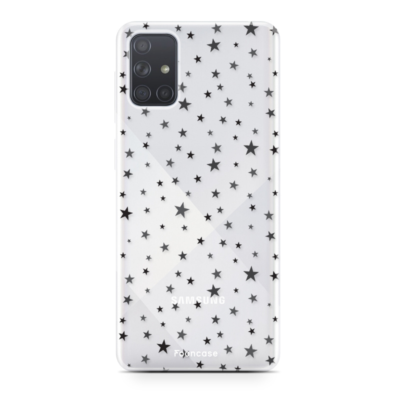 Samsung Galaxy A71 hoesje TPU Soft Case - Back Cover -  Stars / Sterretjes