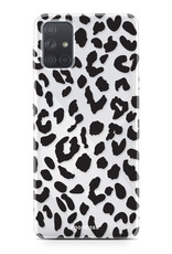 Samsung Galaxy A71 hoesje TPU Soft Case - Back Cover - Luipaard / Leopard print