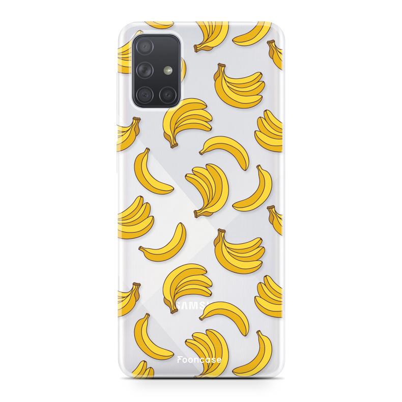 Samsung Galaxy A71 hoesje TPU Soft Case - Back Cover - Bananas / Banaan / Bananen