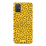 Samsung Galaxy A71 - POLKA COLLECTION / Oker Geel