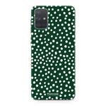 Samsung Galaxy A71 - POLKA COLLECTION / Dunkelgrün