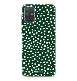 Samsung Galaxy A71 - POLKA COLLECTION / Donker Groen