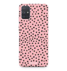 Samsung Galaxy A71 - POLKA COLLECTION / Roze