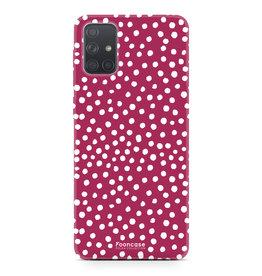 Samsung Galaxy A71 - POLKA COLLECTION / Rood