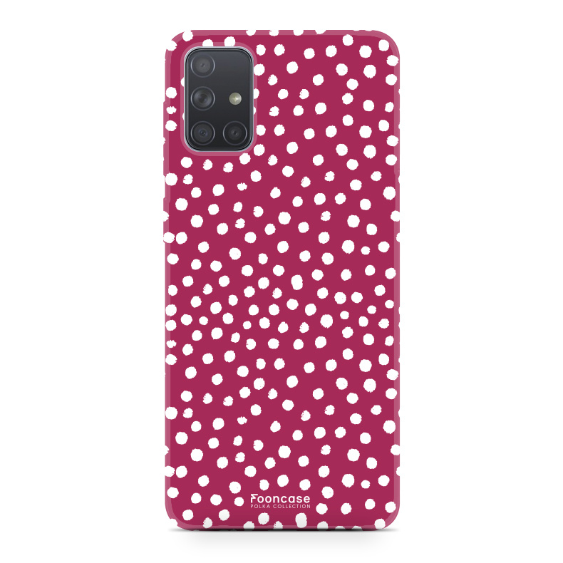 Samsung Galaxy A71 hoesje TPU Soft Case - Back Cover - POLKA COLLECTION / Stipjes / Stippen / Rood