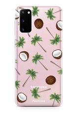 FOONCASE Samsung Galaxy S20 hoesje TPU Soft Case - Back Cover - Coco Paradise / Kokosnoot / Palmboom