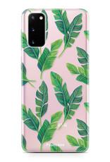 FOONCASE Samsung Galaxy S20 hoesje TPU Soft Case - Back Cover - Banana leaves / Bananen bladeren