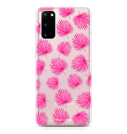 FOONCASE Samsung Galaxy S20 - Pink leaves