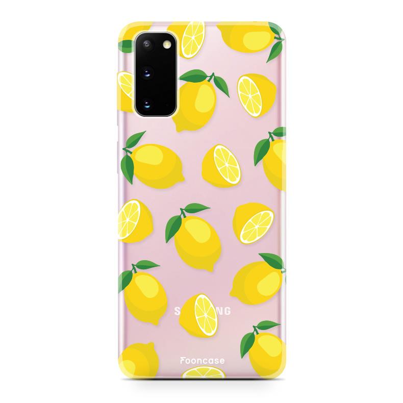 FOONCASE Samsung Galaxy S20 hoesje TPU Soft Case - Back Cover - Lemons / Citroen / Citroentjes
