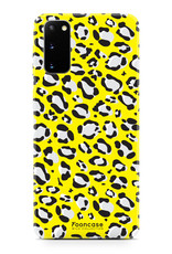 FOONCASE Samsung Galaxy S20 hoesje TPU Soft Case - Back Cover - WILD COLLECTION / Luipaard / Leopard print / Geel