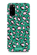 FOONCASE Samsung Galaxy S20 hoesje TPU Soft Case - Back Cover - WILD COLLECTION / Luipaard / Leopard print / Groen