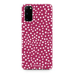 FOONCASE Samsung Galaxy S20 - POLKA COLLECTION / Red