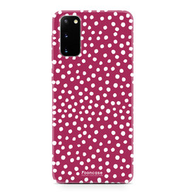 FOONCASE Samsung Galaxy S20 - POLKA COLLECTION / Rood