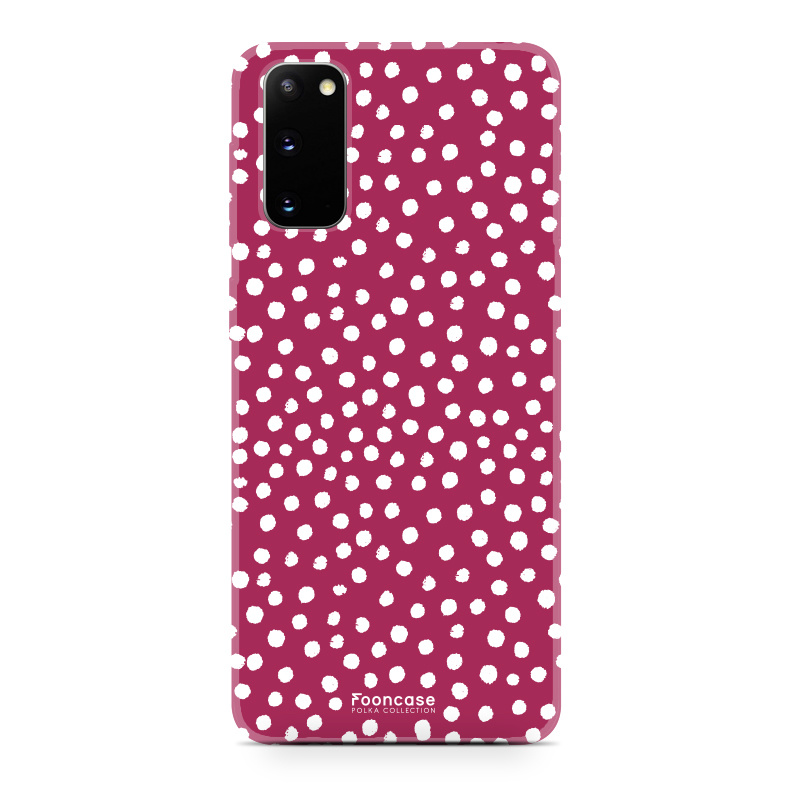 FOONCASE Samsung Galaxy S20 hoesje TPU Soft Case - Back Cover - POLKA COLLECTION / Stipjes / Stippen / Rood