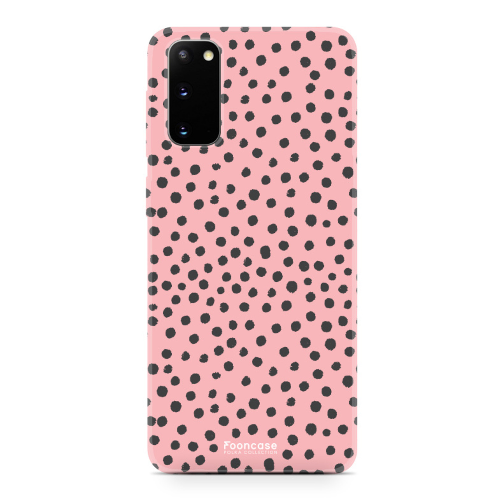 FOONCASE Samsung Galaxy S20 hoesje TPU Soft Case - Back Cover - POLKA COLLECTION / Stipjes / Stippen / Roze