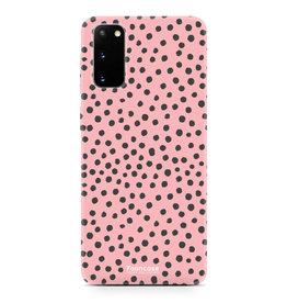 FOONCASE Samsung Galaxy S20 - POLKA COLLECTION / Rosa