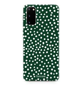 FOONCASE Samsung Galaxy S20 - POLKA COLLECTION / Dunkelgrün