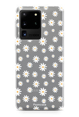 FOONCASE Samsung Galaxy S20 Ultra hoesje TPU Soft Case - Back Cover - Madeliefjes