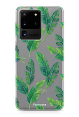 FOONCASE Samsung Galaxy S20 Ultra hoesje TPU Soft Case - Back Cover - Banana leaves / Bananen bladeren