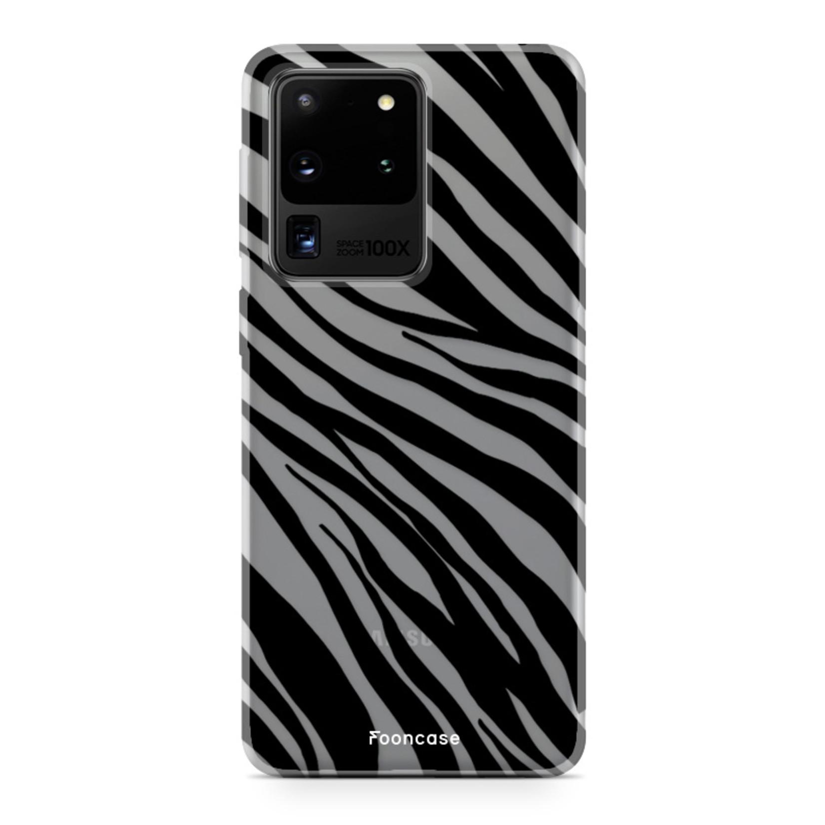 FOONCASE Samsung Galaxy S20 Ultra hoesje TPU Soft Case - Back Cover - Zebra print