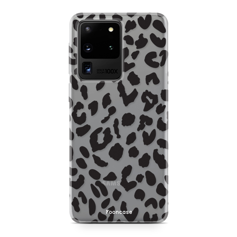 FOONCASE Samsung Galaxy S20 Ultra hoesje TPU Soft Case - Back Cover - Luipaard / Leopard print