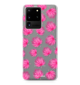 FOONCASE Samsung Galaxy S20 Ultra - Pink leaves