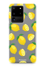 FOONCASE Samsung Galaxy S20 Ultra hoesje TPU Soft Case - Back Cover - Lemons / Citroen / Citroentjes